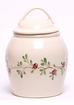 Cranberry Ceramic Cookie Jar