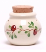 Cranberry Ceramic Garlic Keeper
