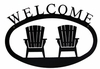 Adirondack Chairs Welcome Sign