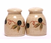 Small Tuscan Olive Salt & Pepper Set