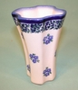 Polish Pottery - Small Fluted Vase