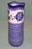 Polish Pottery - Tall Scalloped Top Vase