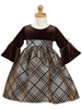 Velvet and Flocked Taffeta Holiday Dress