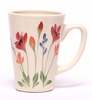 Designer Red Poppy Latte Mug