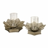 Flower Candle Hurricanes - Set of 2