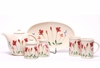 Red Poppy Designer Tea Set