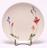 Red Poppy Dinner Coupe Plate