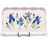 Large Field of Iris Frilly Tray