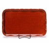 Large Copper Clay Frilly Tray