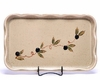 Large Tuscan Olive Frilly Tray