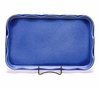 Large American Blue Frilly Tray