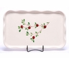 Large Cranberry Frilly Tray