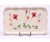 Large Red Poppy Frilly Tray