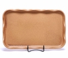 Large Go Green Earthenware Frilly Tray