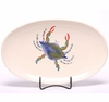 Blue Crab Oval Serving Tray