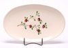 Cranberry Oval Serving Tray