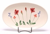 Red Poppies Oval Serving Tray