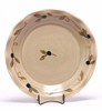 Large Round Tuscan Olive Frilly Tray