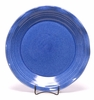 Large Round American Blue Frilly Tray