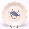 Large Round Blue Crab Frilly Tray