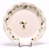 Large  Round Cranberry Frilly Tray