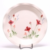 Large Round Red Poppy Frilly Tray