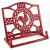 Cast Iron Red Rooster Cookbook Holder