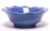 Large American Blue Frilly Fruit Bowl