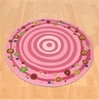 Kinawa Girl's Flower Swirl Area Rug