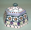 Polish Pottery - Lidded Multi-sided Box