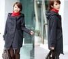 Hooded Wool Blend Women Overcoat