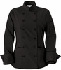 Women's Classic Black Chef Coat
