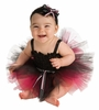 Black and Pink Infant Tutu Dress