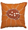 Abstract Floral Puzzle Set of Two Pillows