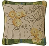 "Golden Yellow Zinnia 10"" Square Pillow"