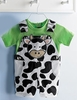 Boy LIttle Cow Shortall Set