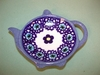 PolishTea Bag  Saucer - Pattern A19