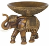 Elephant Sculpture with Serving Bowl