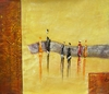 Amber Walk Canvas Art - Oil Painting