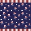 Boy's Star & Stripes Hat Shower Curtain