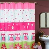 Girl's  Flowers & Owls Shower Curtain