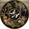 Asian Cloisonne Jet Tapestry