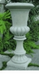 Fine Cast Tall Fluted Urn