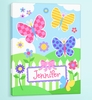 Girl's Butterfly Garden Wall Art