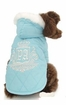Silver Swan Quilted Dog Coat