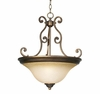Bronze Over Iron Pendant Lamp