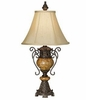 Bronze Crackle Urn Accent Table Lamp
