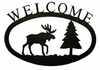 Moose & Pine Welcome Sign
