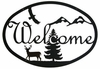 Deer & Eagle Welcome Sign