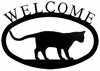 Cat at Play Welcome Sign